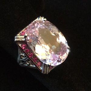 Exquisite Genuine Soft Pink Kunzite Ring